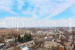 view to Kozelets town bird's-eye view