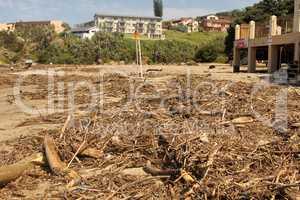Waste Environmental Damage at Beachfront