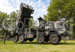 german antiaircraftrocketsystem  patriot in attack position