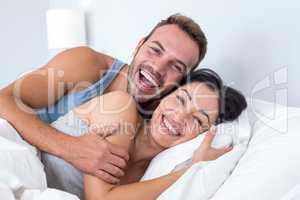 Beautiful young couple relaxing