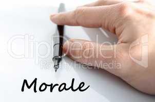 Morale text concept