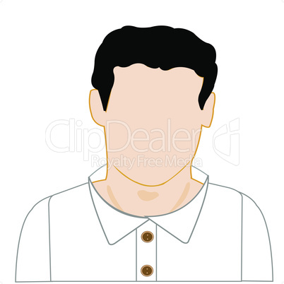 man in shirt.eps