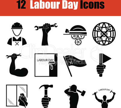 Set of Labour Day icons