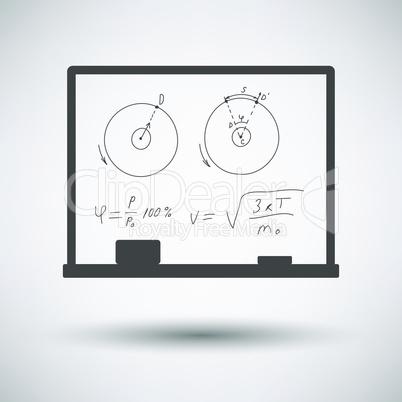 Classroom blackboard icon