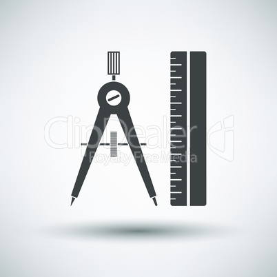 Compasses and scale icon
