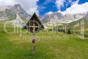 Crucifix in the meadows