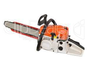 Chainsaw on a white background.