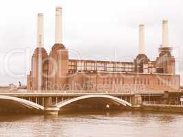 Battersea Powerstation, London vintage