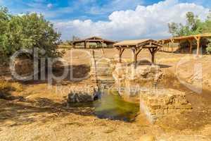 The site where Jeasus was baptized in river Jordan