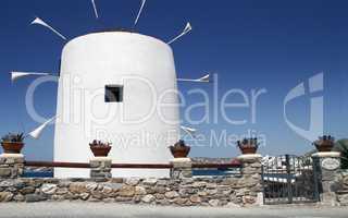 windmill on the island of Mykonos in Greece