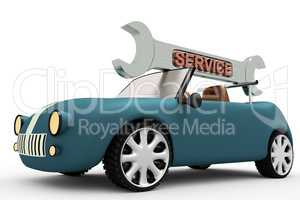 Car with wrench field service
