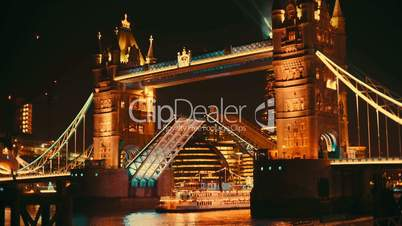 Close-up of Tower Bridge London Lift Opening
