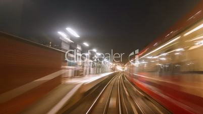 Nonstop POV Hyperlapse Night Train Journey in London UK