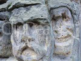 Bizarre Stone Heads - Rock Sculptures
