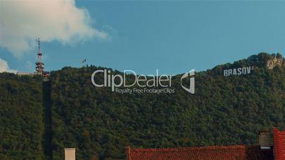 Romanian Town of Brasov - Landmark Mountain