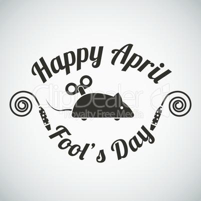April fool's day emblem