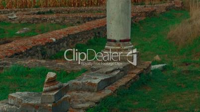 Roman Ruins of Sarmizegetusa in Deva, Romania - Ultra close-up shot