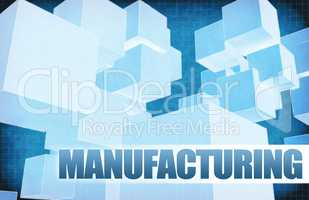 Manufacturing on Futuristic Abstract