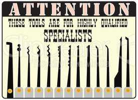 Master keys or picklock For Professionals