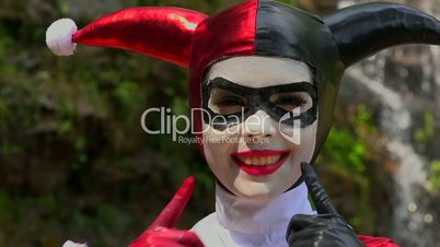 Pretty Cosplay Jester Girl