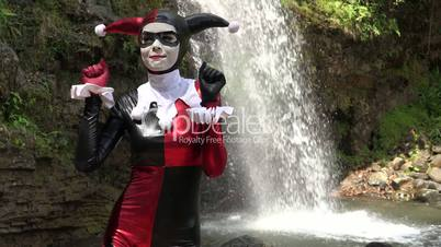 Dancing Female Cosplay Jester