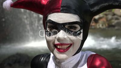 Happy Female Jester Cosplay