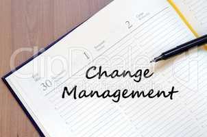 Change management write on notebook