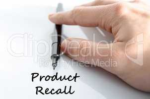Product recall text concept