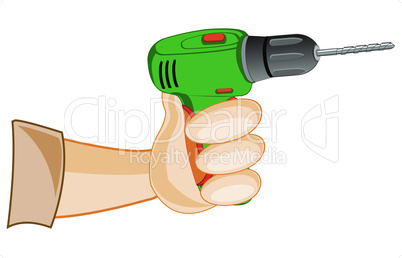 hand with drill.eps