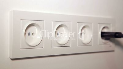 Inserting a Socket Electrical Plugs