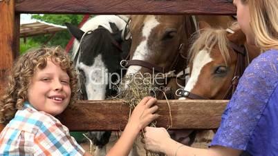Boy And Girl At Animal Farm