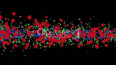 High-definition abstract particle 3d render, HD 1080p