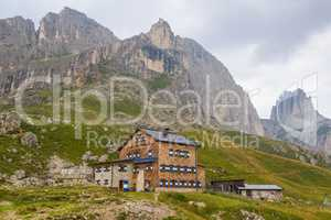 Refuge Rotwand in the Dolomites