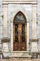 Arched doorway to tomb in Recoleta Cemetery