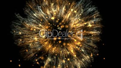 High-definition abstract fireworks video 3d render, HD 1080p