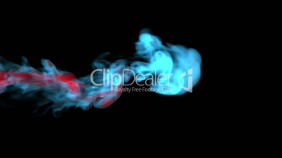 Blue fire abstract video, high-definition 3d render, HD 1080p,  Alpha channel is included