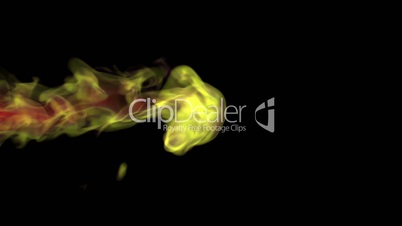 Yellow fire abstract video, high-definition 3d render, HD 1080p,  Alpha channel is included
