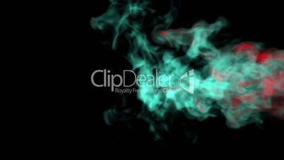 Green fire abstract video, high-definition 3d render, HD 1080p,  Alpha channel is included