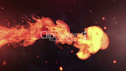 Red fire abstract video, high-definition 3d render, HD 1080p