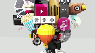 Exploding various entertainment contents in the smart phone, mobile