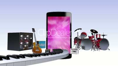 Music contents for Smart phone, Entertainment contents.