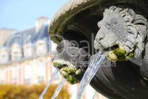 Brunnen Places des Vosges Paris