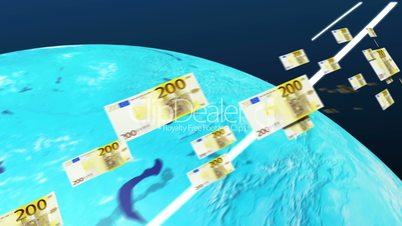 Euro of the world moving to the Europe(euro currency)