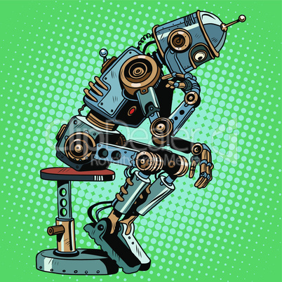 Robot thinker artificial intelligence progress