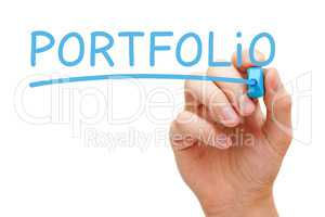 Portfolio Blue Marker