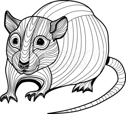 Rat or mouse head vector animal illustration for t-shirt. Sketch tattoo design.