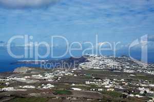 Landschaft auf Santorin, Griechenland