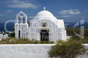 Kirche in Fira, Santorin, Griechenland