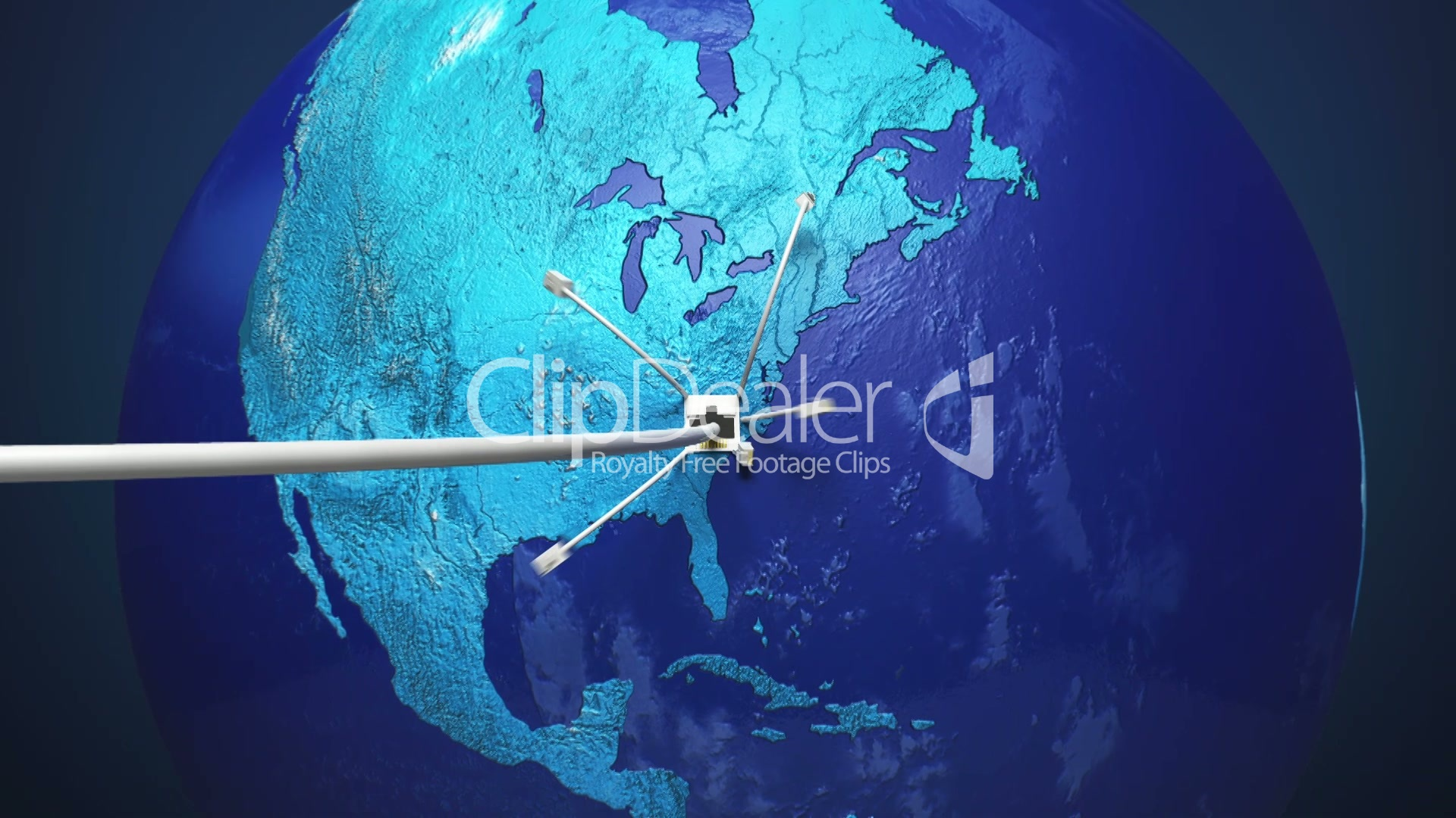 Connecting Lan Cable Growing Global Network With Communication Wiring A Plug Earth