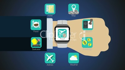 Travel application function for smart watch,mobile watch(included alpha)